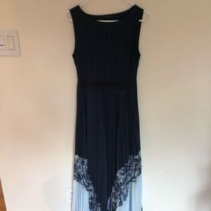 BCBG NAVY MAXI DRESS